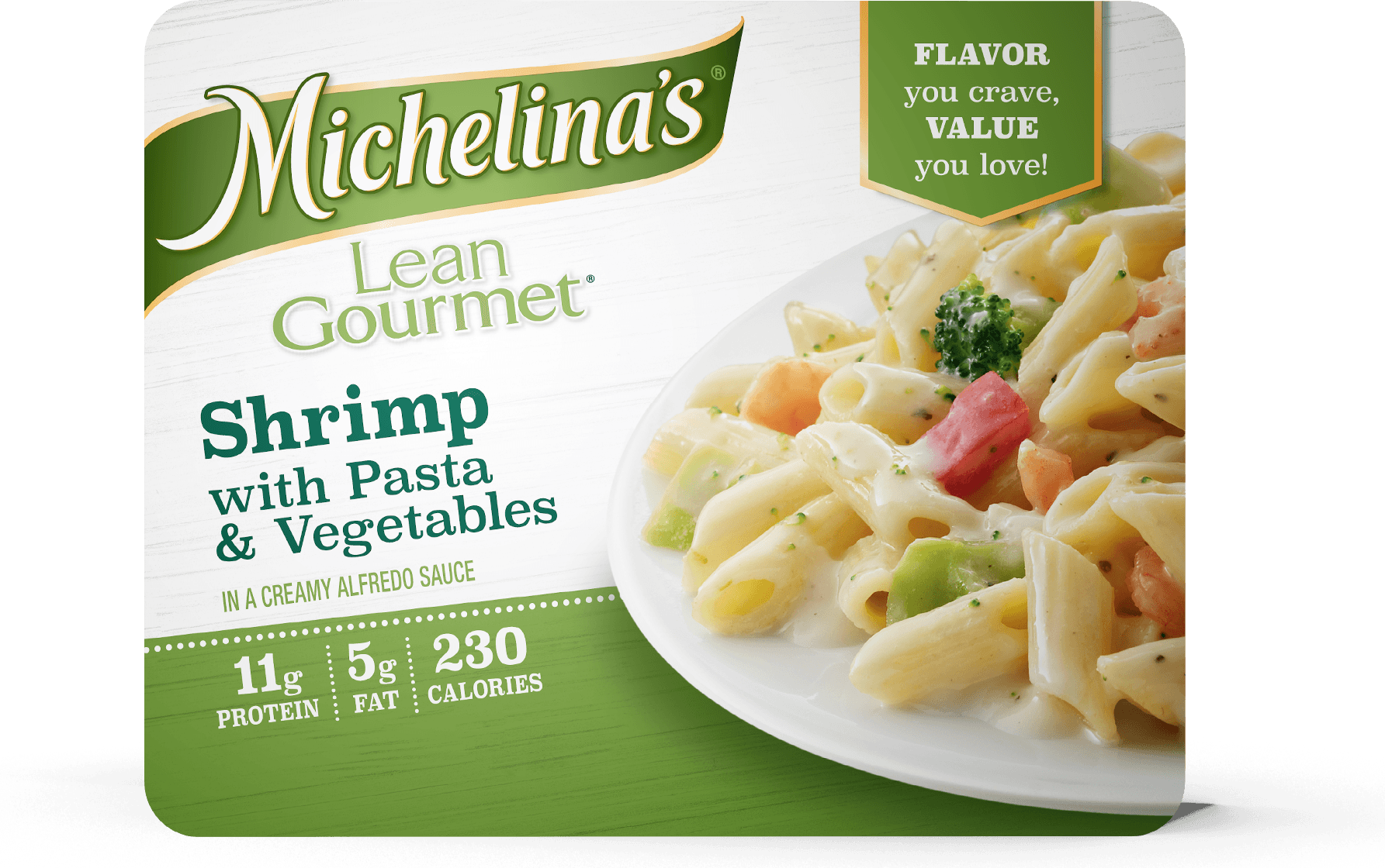 lean gourmet shrimp with pasta vegetables michelina s frozen entrees