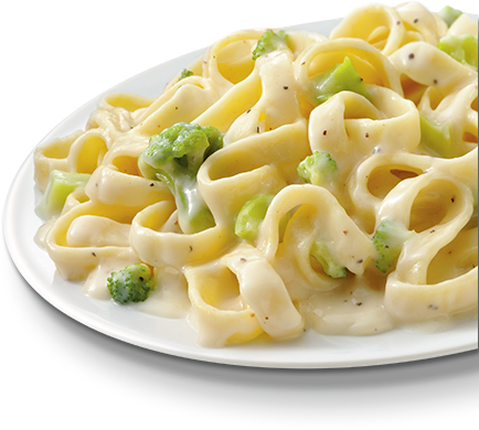 Fettuccine Alfredo with Broccoli