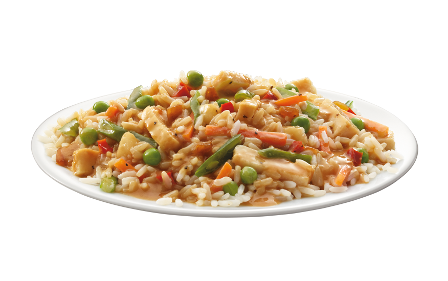 Stir Fry Rice & Vegetables with White Chicken